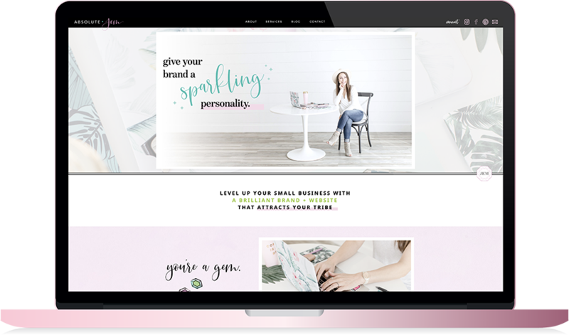 Absolute JEM Custom Showit Website