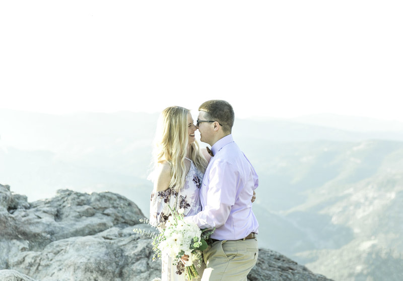 couple during elopement in boulder colorado