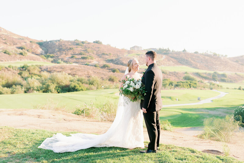 golf course wedding in norco california with beautiful view