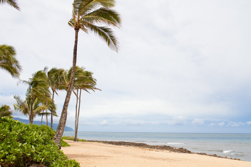 Oahu beach wedding location - Haleiwa Alii Beach Park