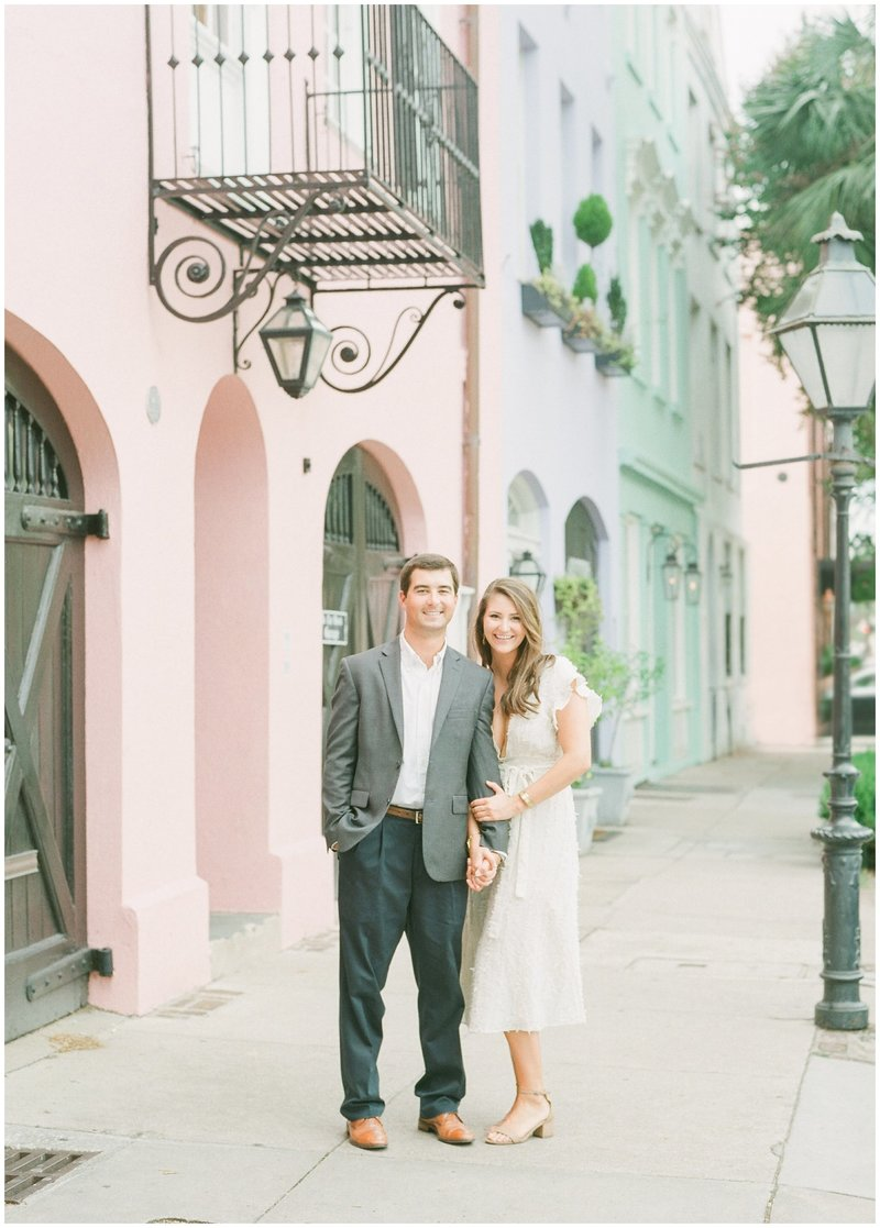 Charleston Rainbow Row- South Carolina - Engagement Session - Wedding Photographer - Anniversary Session - Destination Photographer   - King Street Charleston - Jesse Carleton Photography_0862