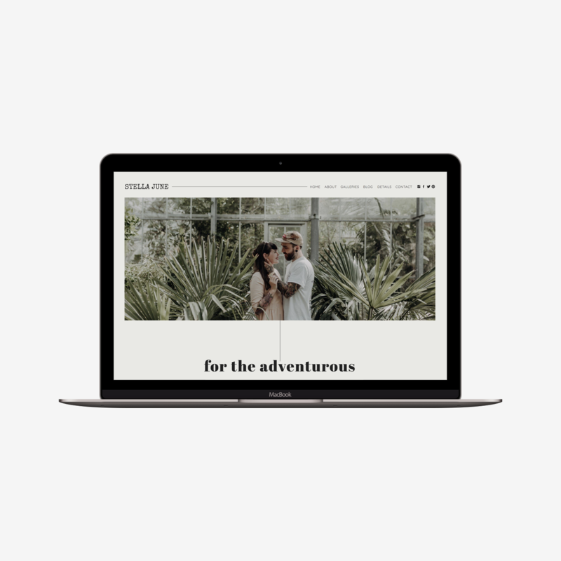 The Roar Showit Web Design Template Stella June Macbook Image