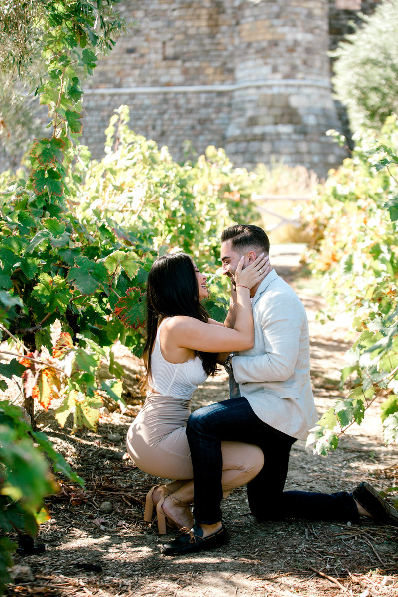 proposal at castello di amorosa she said yes