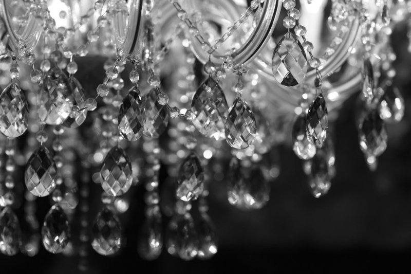 stock photo - elegant chandalier black background