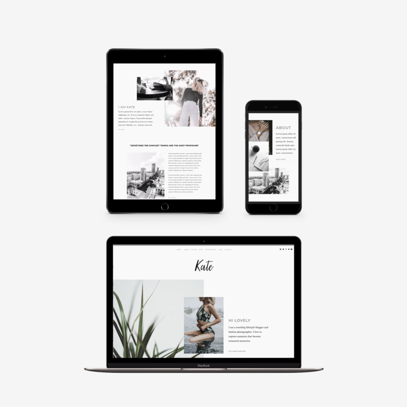 The Roar Showit Web Design Website Kate Responsive