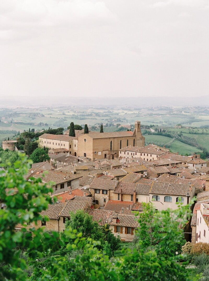 Gorgeous landscape of town in Tuscany Italy