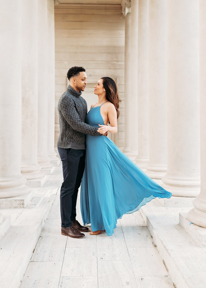 San Francisco City Hall engagement shoot at the legion of honor