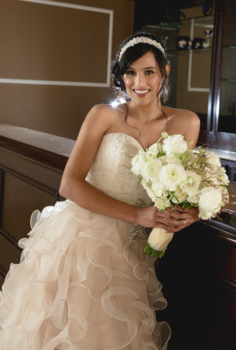 Bride with bridal bouquet