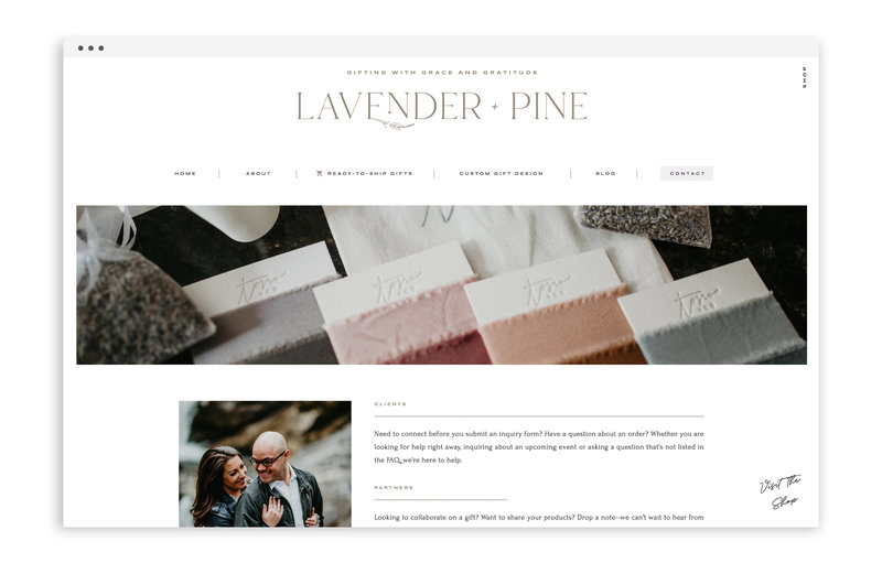 Lavender and Pine - Formerly Blush Events - Custom Brand and Showit Web Design by With Grace and Gold - Showit Theme, Showit Themes, Showit Template, Showit Templates, Showit Design, Showit Designer - 3