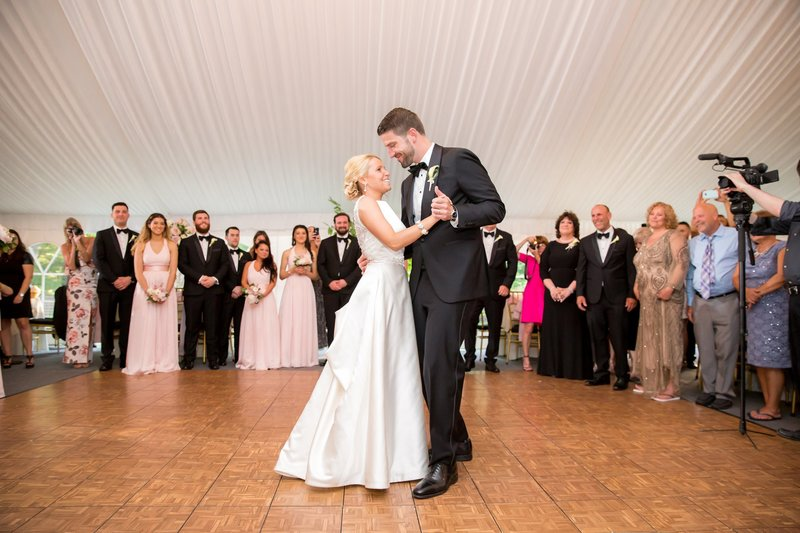 Bride and groom first dance photo