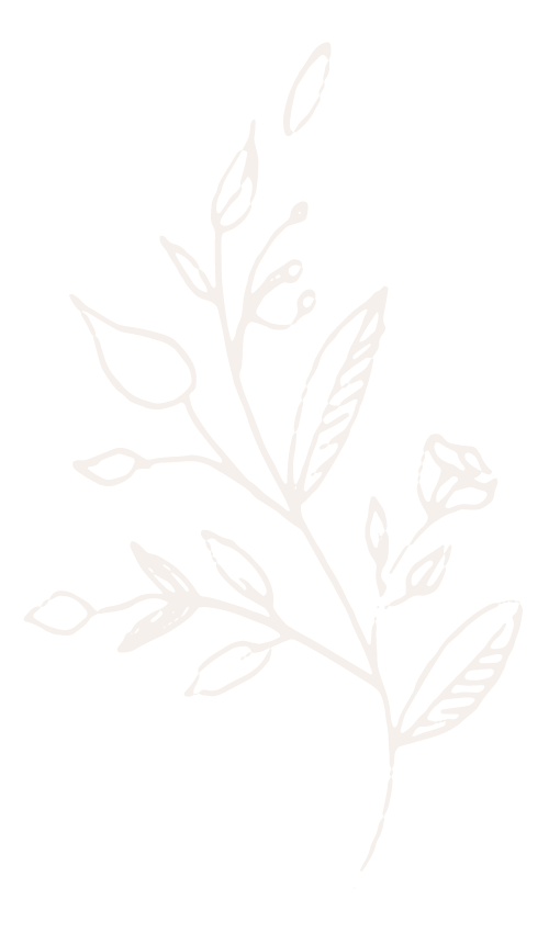 Branded Floral Graphic Element in Ivory