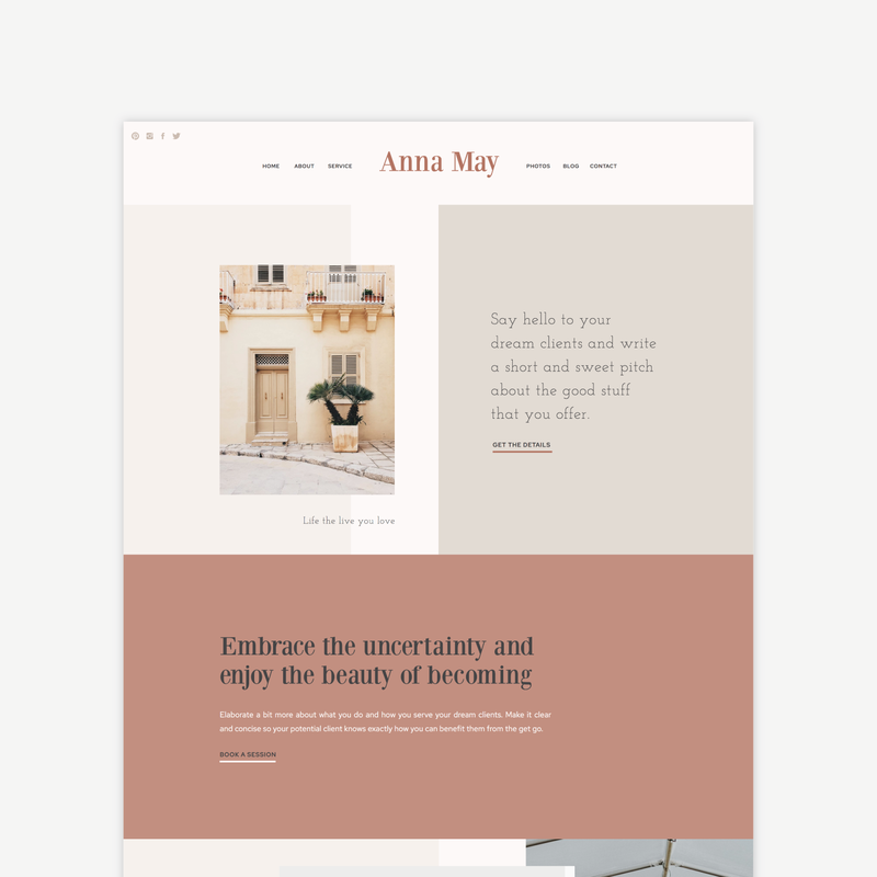 The Roar Showit Web Design Website Template Anna May