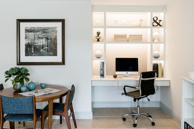 Interior design behind the scenes home office styling