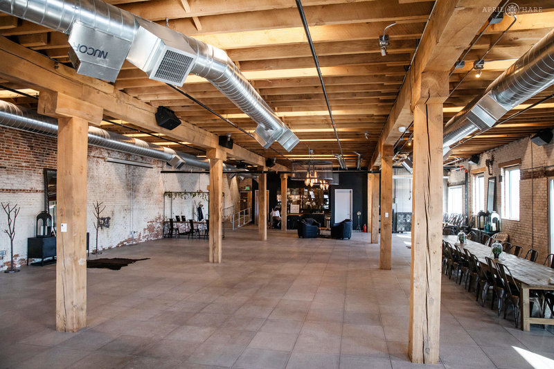 An industrial warehouse space for wedding rentals in Denver called Shyft at Mile High