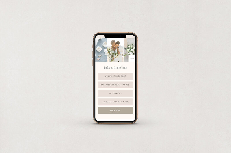 Free Showit Instagram Links Template Page Design by With Grace and Gold