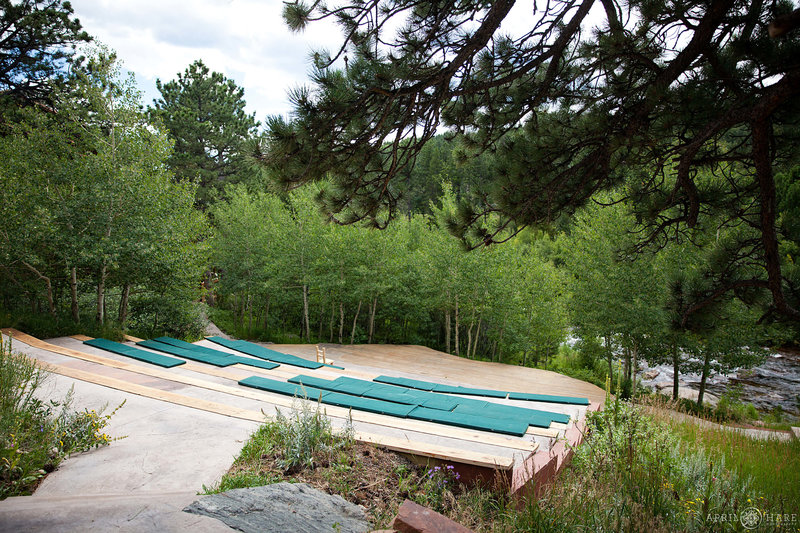 Outdoor-Wood-Deck-Wedding-Ceremony-Site-at-Wild-Basin-Lodge-in-CO