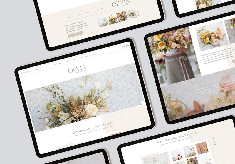 Olivia - Showit Website Template, Theme, Themes for Floral Designers Wedding Planners Wedding Professionals by With Grace and Gold - 2