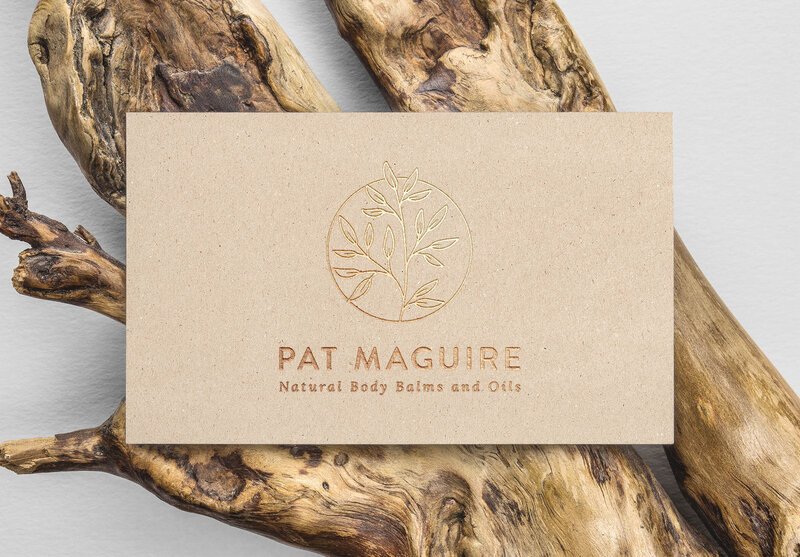 Pat Maguire Gold Foil B-Card MockUp