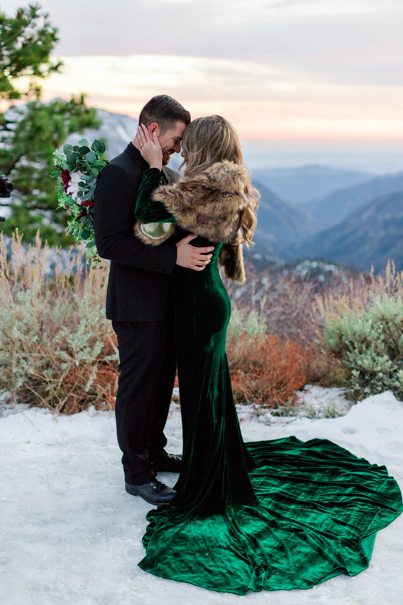 Wrightwood Shootout, Snow Engagement, Snow Elopement, Mountain Elopement, Yosemite Elopement, Wrightwood Elopement, Wrightwood Engagement, Mountainside Bride, Mountainside Elopement-54