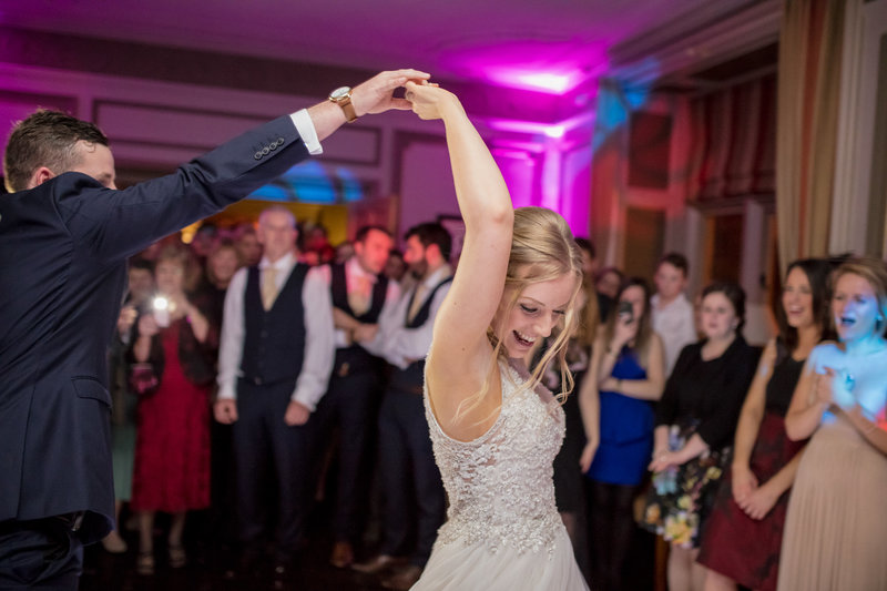 first dance at langdon court wedding in devon