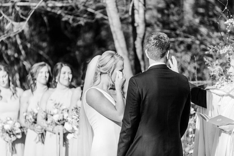 teary eyed bride by Knoxville Wedding Photographer, Amanda May Photos