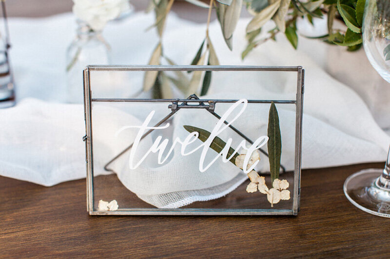 pirouettepaper.com | Wedding Stationery, Signage and Invitations | Pirouette Paper Company | Table Numbers 82