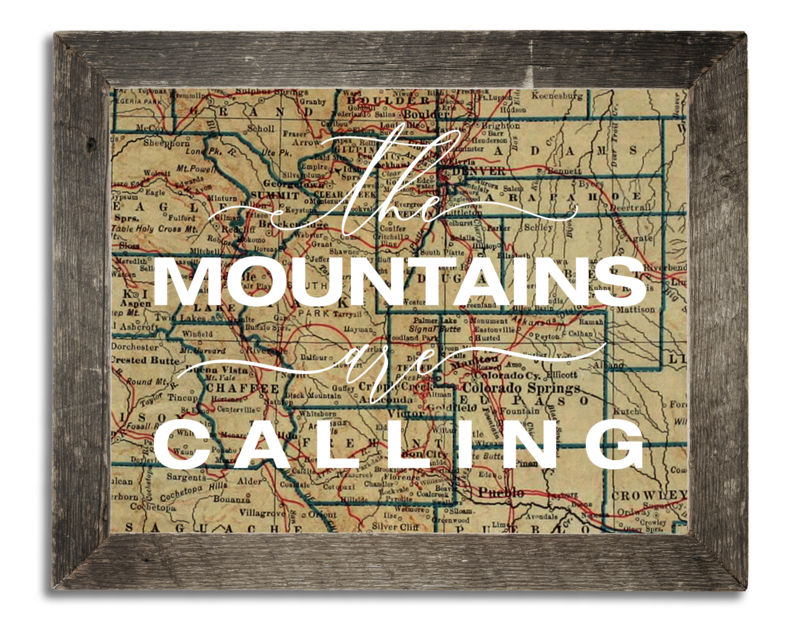 The Mountains are Calling Vintage Colorado Western