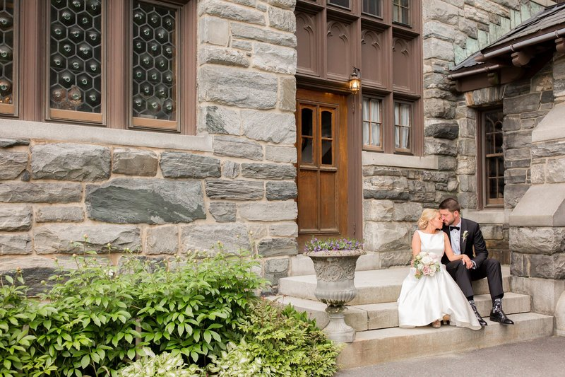 Bride and groom photo in Vermont