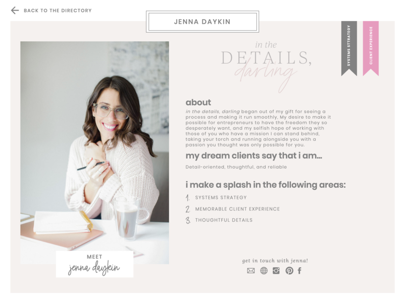 outsourcing with love member jenna daykin of in the details, darling