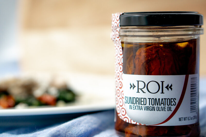 product photography of personalized food label