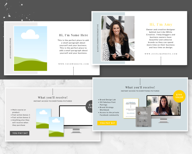 This Canva template allows you to create a beautiful slide deck for your next webinar