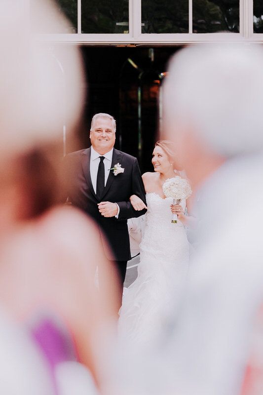 reno wedding photographers father walks bride down aisle