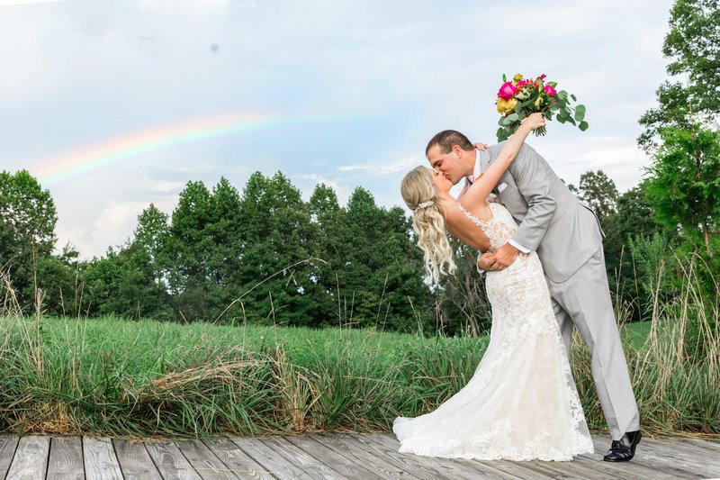 The-Barn-on-Enchanted-Acres-Wedding-Couple-Rainbow