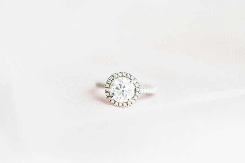 Brides wedding engagement ring photo