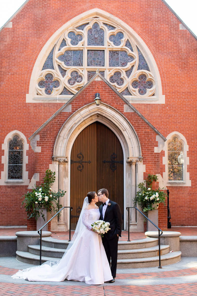 first-kiss-dalhgren-chapel-dc-wedding