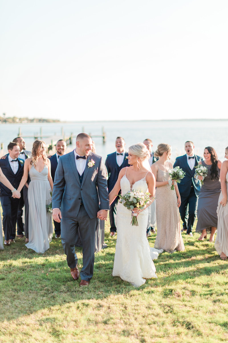 Full bridal party in maryland