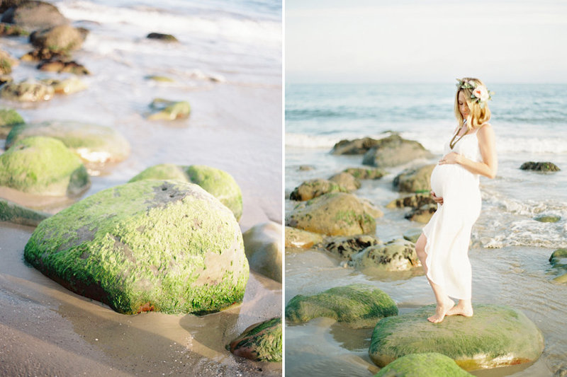 Maternity image at the beach in Camarillo, California