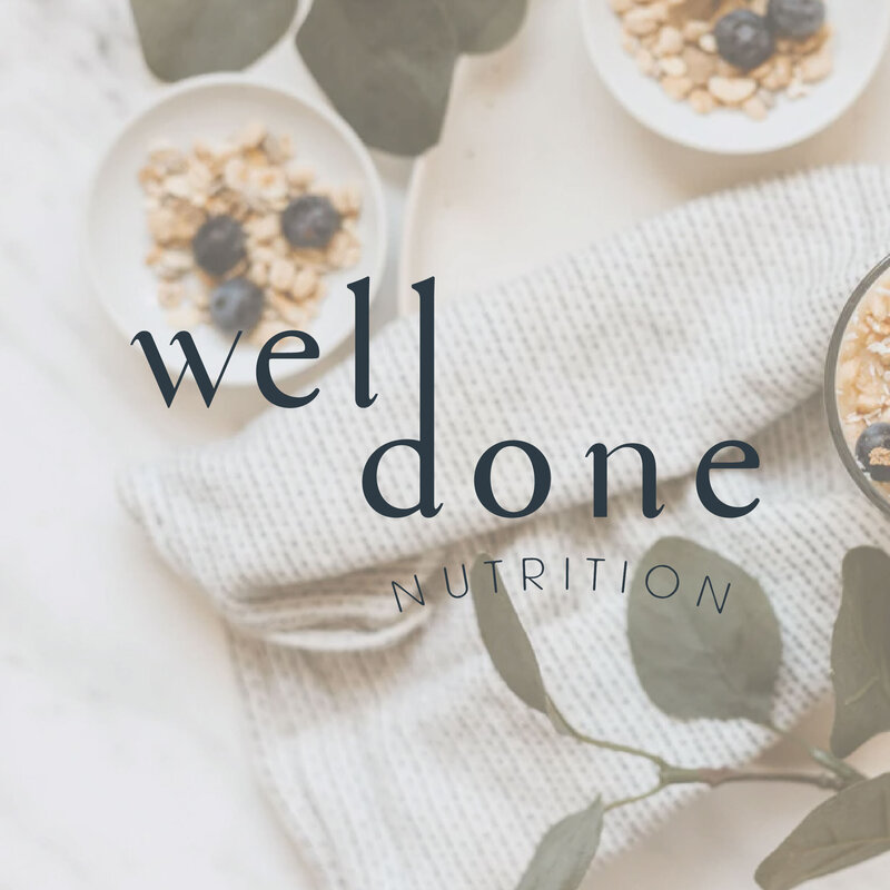 Brand identity design for Well Done Nutrition