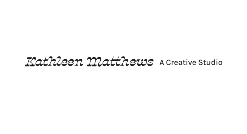 Kathleen Matthews_Logo_Black and White_Horizontal Type Only