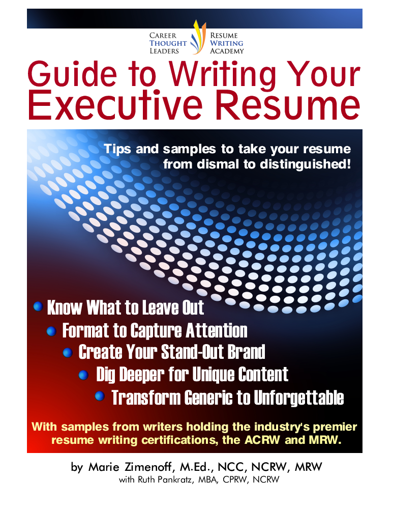 Guide To Writing Your Executive Resume