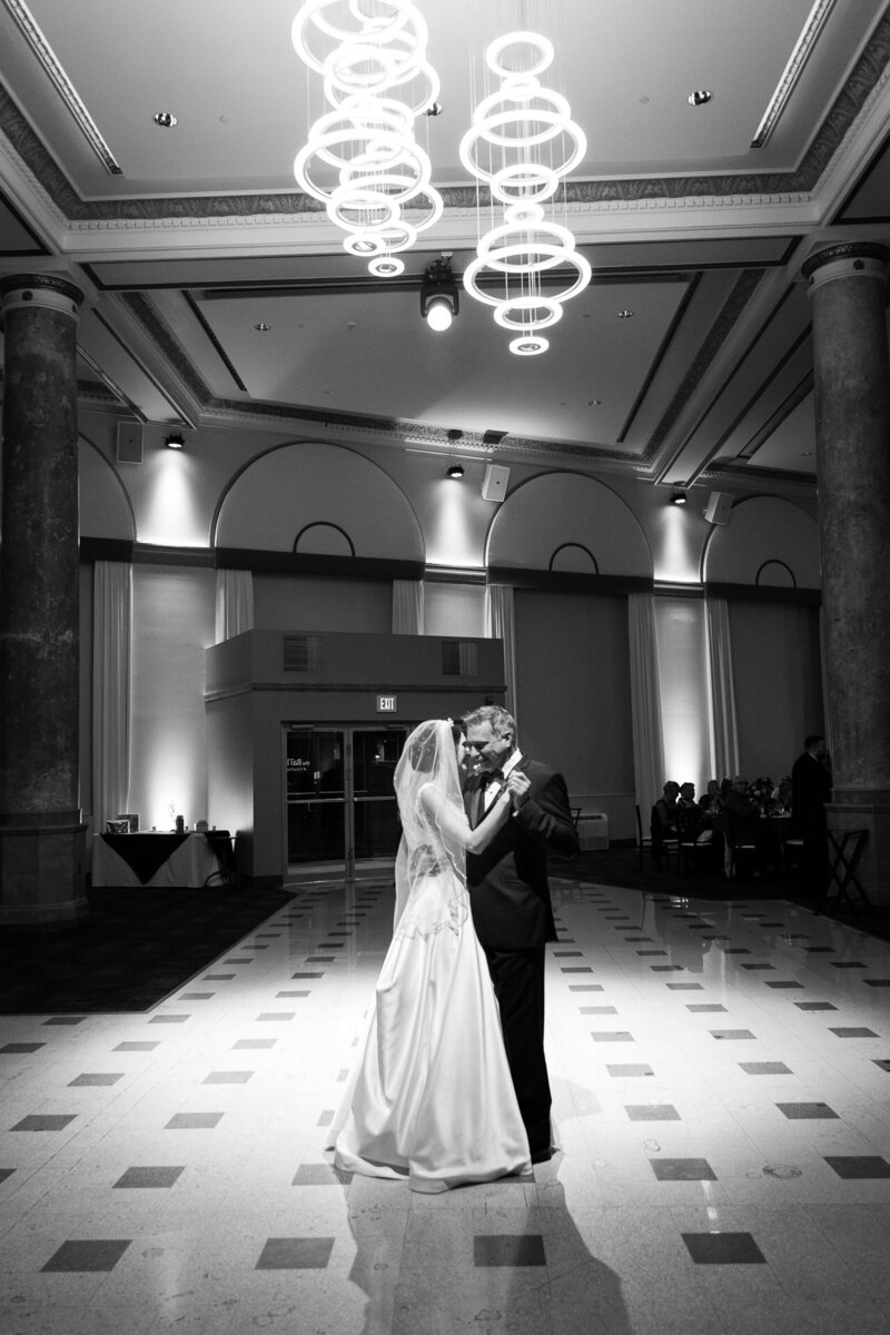 bride and groom first dance at cityflats ballroom port huron