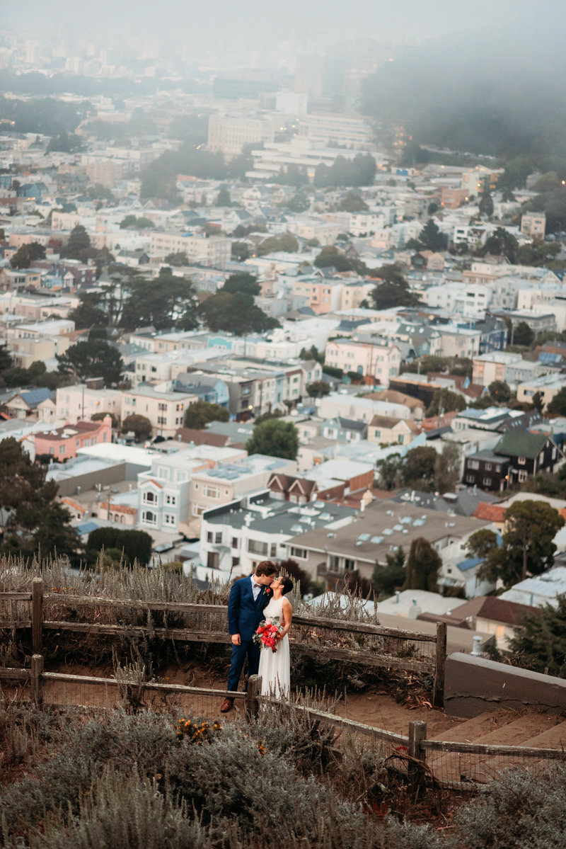 San Francisco City Hall  post wedding photoshoot grand view park
