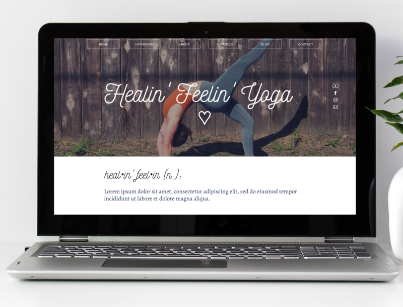 Healin' Feelin' Yoga Website