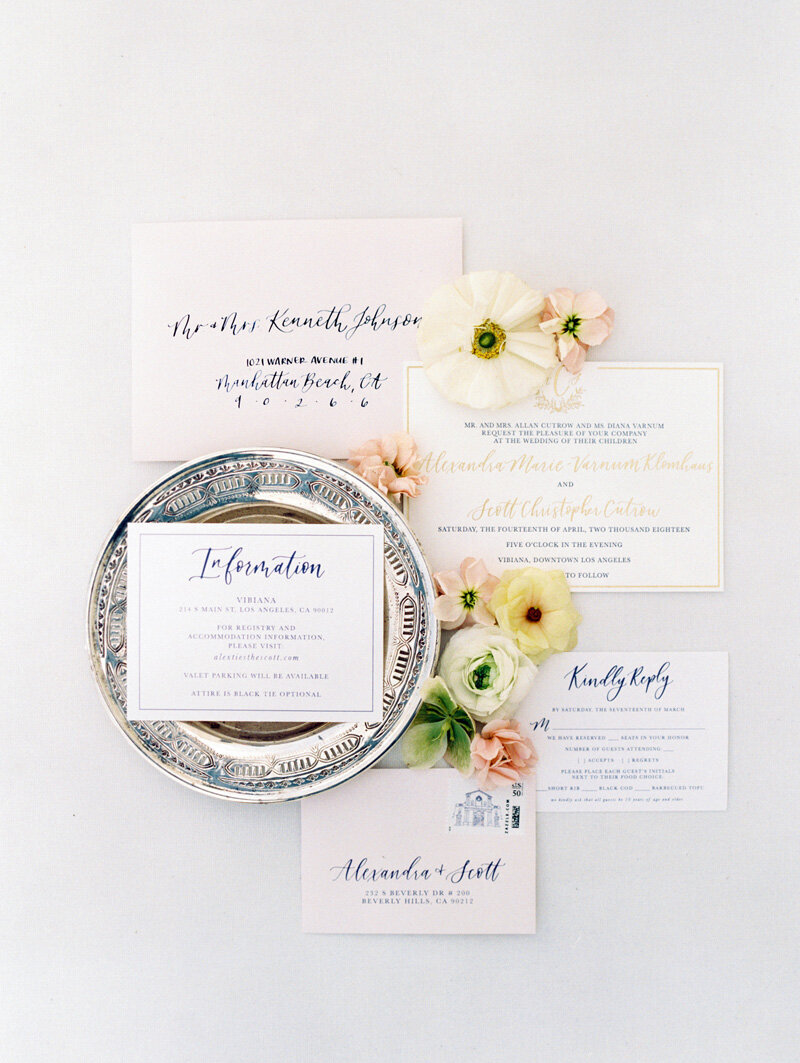 pirouettepaper.com | Wedding Stationery, Signage and Invitations | Pirouette Paper Company | Vibiana Downtown Los Angeles Wedding | Mallory Dawn Photography_ (18)