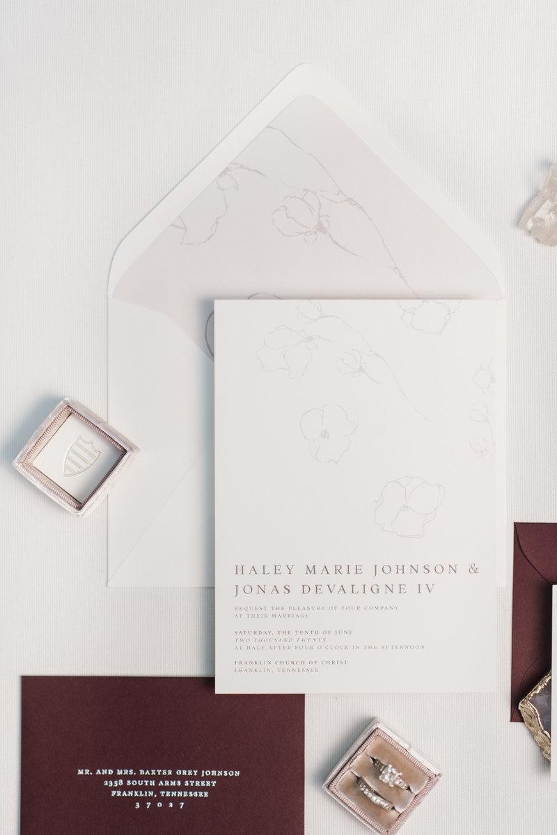 Grace Soft Floral Wedding Invitations