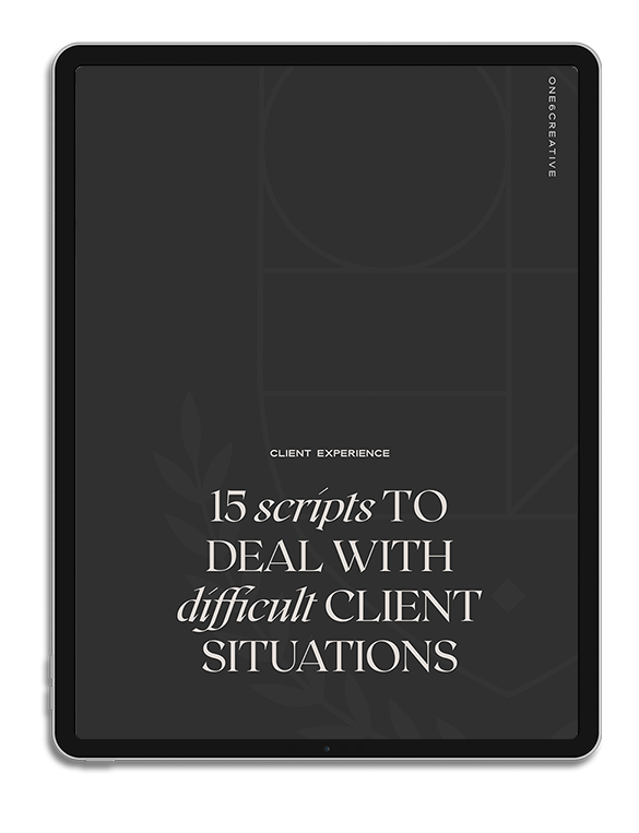 One6Creative_Scripts for Difficult Client Situations Mockup