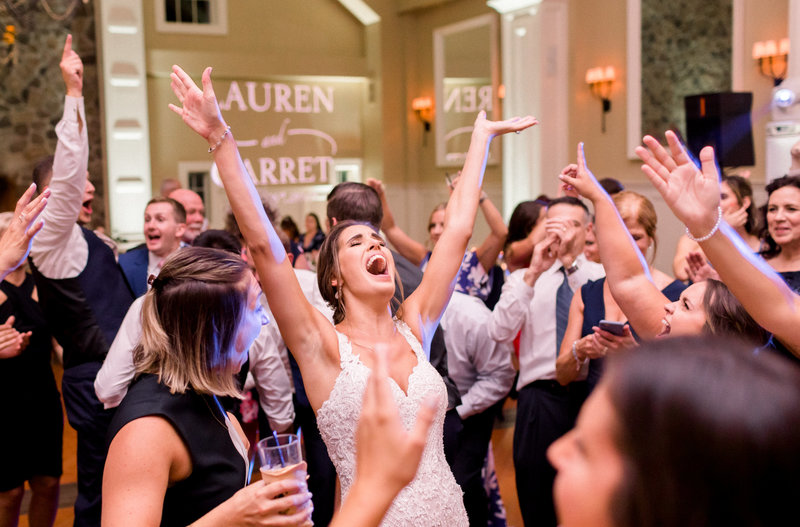 This summer Ryland Inn wedding was photographed by Caroline Morris Photography