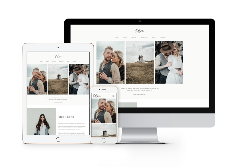 Minimal easy to customize drag and drop website templates for creatives