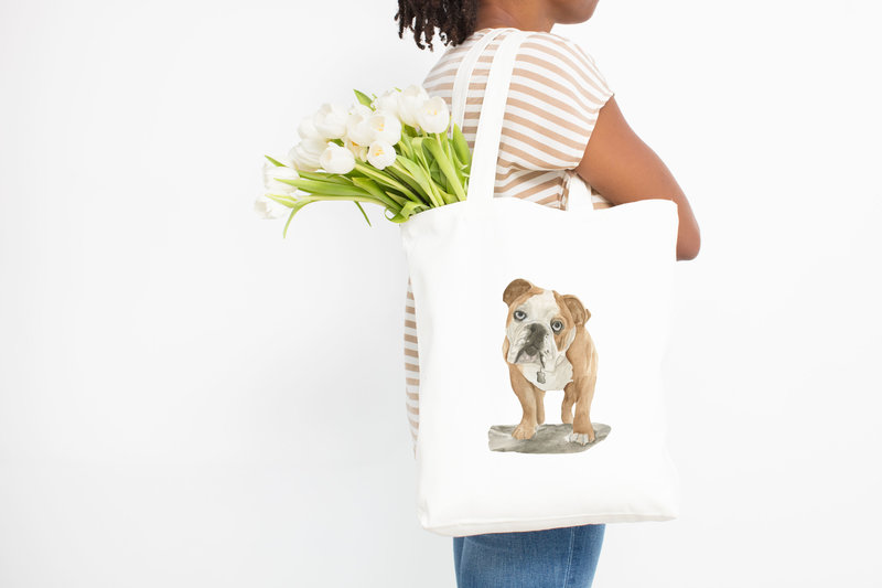 watercolor-pet-portrait-tote-bag-The-Welcoming-District