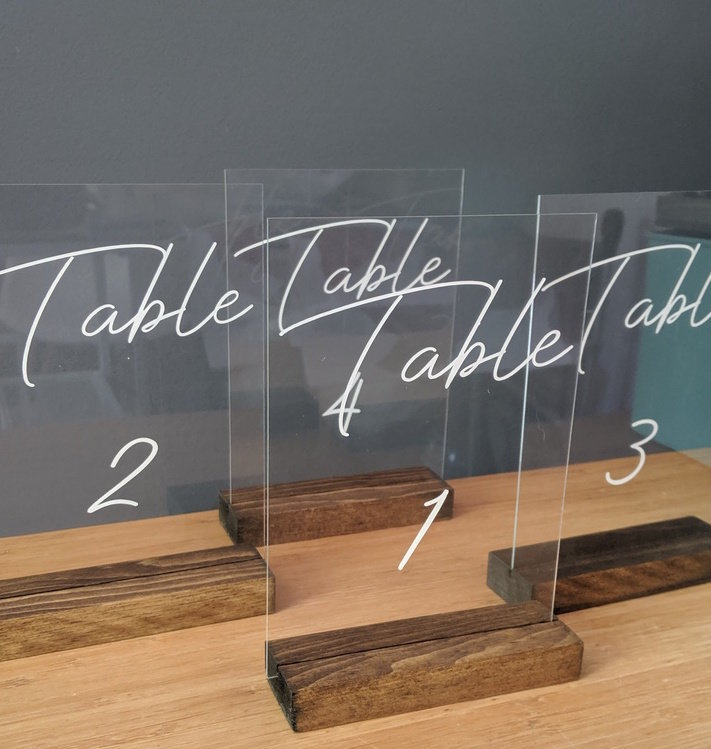 Table Numbers Acyrlic